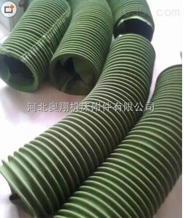 通风机圆形绿色帆布软连接